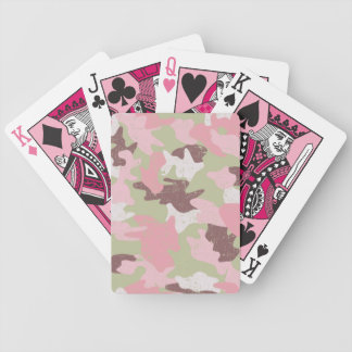 ピンクのカムフラージュのトランプ バイスクルトランプ