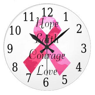 ピンクのカムフラージュのリボンの信頼の時計 時計