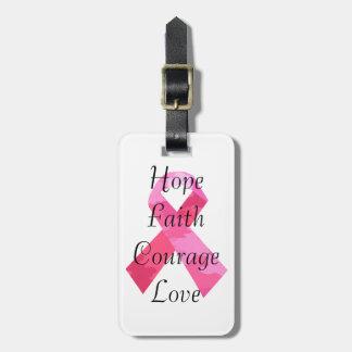 ピンクのカムフラージュのリボンの信頼の荷物のラベル ラゲッジタグ