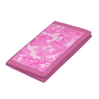 ピンクのカムフラージュの財布