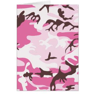 ピンクのカムフラージュカード カード