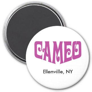 ピンクのカメオのロゴの円形の磁石 マグネット