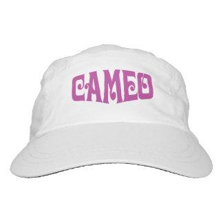 ピンクのカメオのロゴの女性の性能の帽子 ヘッドスウェットハット