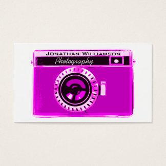 ピンクのカメラの写真撮影の名刺 名刺
