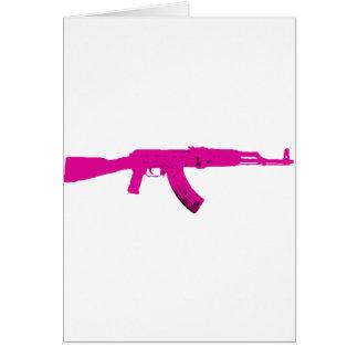 ピンクのカラシニコフ自動小銃 カード