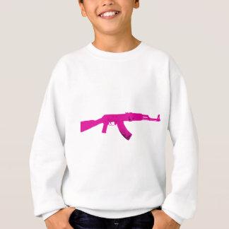 ピンクのカラシニコフ自動小銃 スウェットシャツ