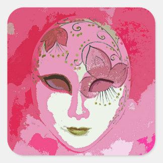 ピンクのカーニバル 正方形シール