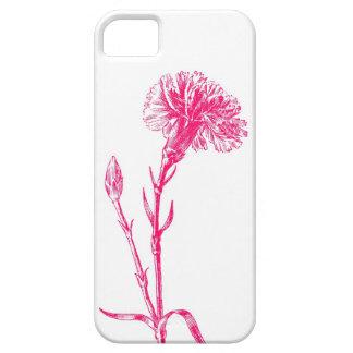 ピンクのカーネーションのイラストレーションの例 iPhone SE/5/5s ケース