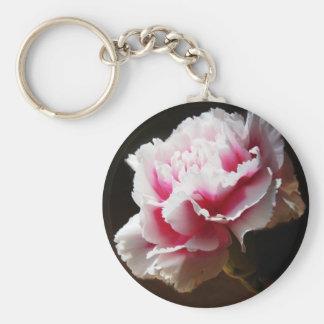 ピンクのカーネーションのナデシコの花 キーホルダー
