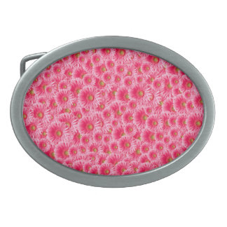 ピンクのガーベラのデイジー 卵形バックル