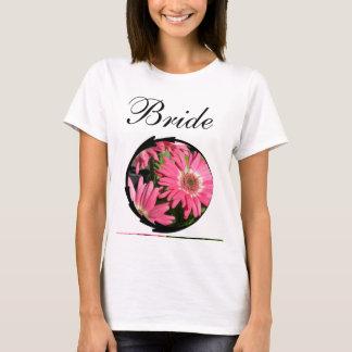 ピンクのガーベラのデイジー Tシャツ