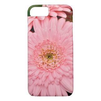 ピンクのガーベラの花のiphoneの場合 iPhone 8/7ケース