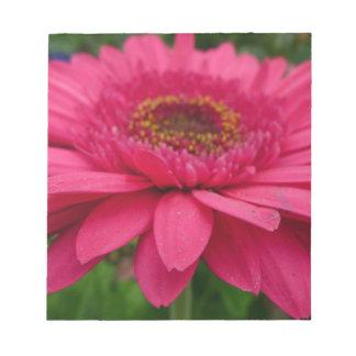 ピンクのガーベラ ノートパッド