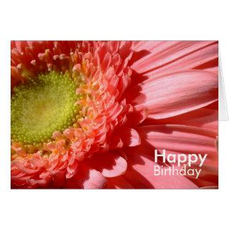 ピンクのガーベラ-ハッピーバースデー カード