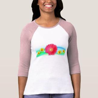 ピンクのガーベラ Tシャツ