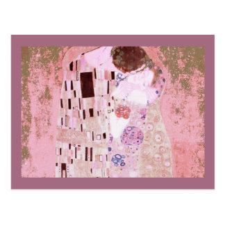 ピンクのキス ポストカード