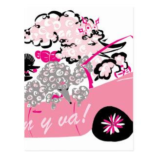 ピンクのキャデラック ポストカード