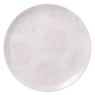 ピンクのキャベツバラのプレート プレート