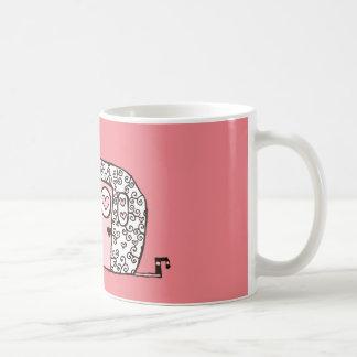 ピンクのキャンピングカー コーヒーマグカップ