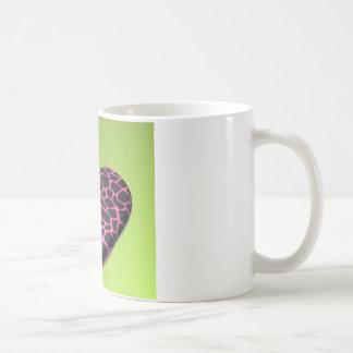 ピンクのキリンのハート コーヒーマグカップ