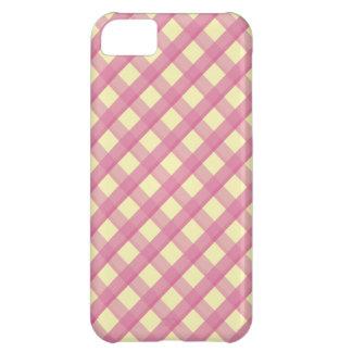ピンクのギンガムのヴィンテージパターン iPhone5Cケース