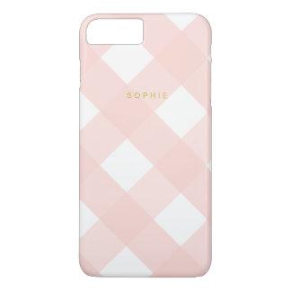 ピンクのギンガムのiPhone 7のプラスの場合 iPhone 8 Plus/7 Plusケース