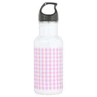 ピンクのギンガムパターン ウォーターボトル