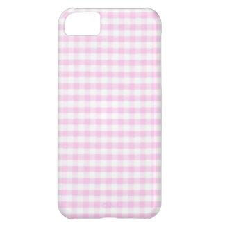 ピンクのギンガムパターン iPhone5Cケース