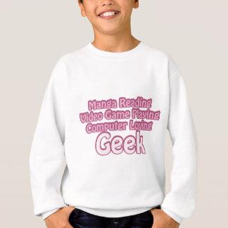 ピンクのギーク スウェットシャツ