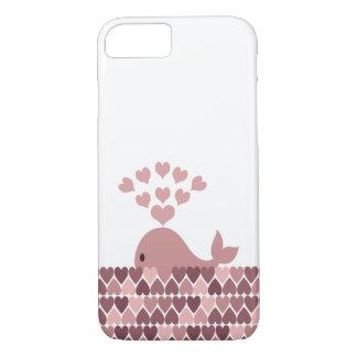 ピンクのクジラ愛 iPhone 8/7ケース