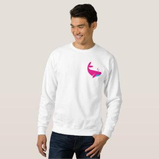 ピンクのクジラ スウェットシャツ