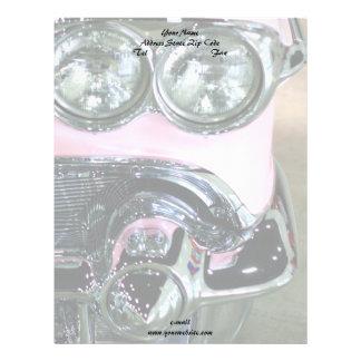 ピンクのクラシックな車レターヘッド レターヘッド