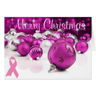 ピンクのクリスマスカード カード
