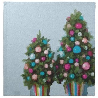 ピンクのクリスマスツリーのすごいかわいいコレクション ナプキンクロス