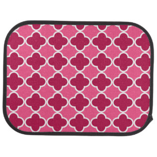 ピンクのクローバーパターン カーマット