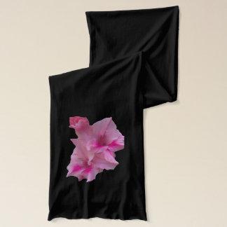 ピンクのグラジオラス スカーフ