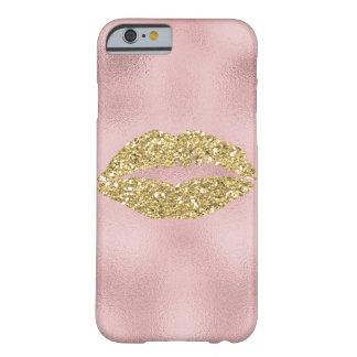 ピンクのグラデーションで抽象的な金ゴールドの魅力的なキス BARELY THERE iPhone 6 ケース