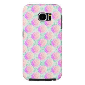 ピンクのグラデーションなケーキのばら色のかわいいのミントビーズのDecoden Samsung Galaxy S6 ケース