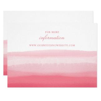 ピンクのグラデーションな水彩画の日没のモダンのウェブサイト カード