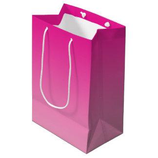 ピンクのグラデーション ミディアムペーパーバッグ