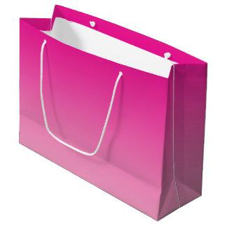 ピンクのグラデーション ラージペーパーバッグ