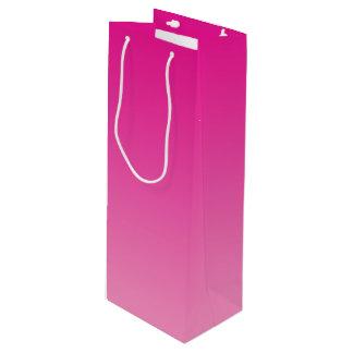 ピンクのグラデーション ワインギフトバッグ