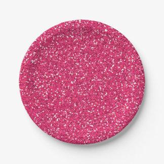 ピンクのグリッターのイメージのカスタムなパーティ ペーパープレート