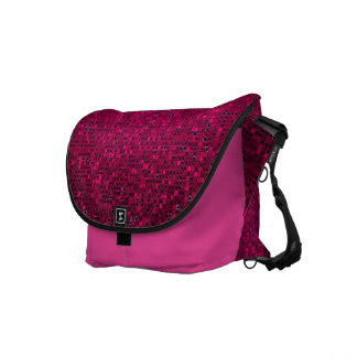 ピンクのグリッターのスパンコールのディスコの輝きのメッセンジャーバッグ クーリエバッグ