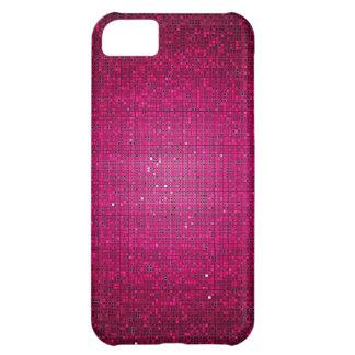 ピンクのグリッターのスパンコールの仲間ID™のiPhone 5の場合 iPhone5Cケース