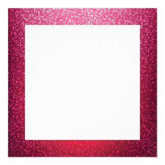 ピンクのグリッターのボーダーテンプレート カード