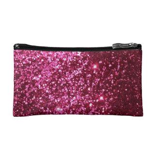 ピンクのグリッターの化粧のバッグ コスメティックバッグ