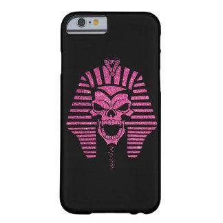 ピンクのグリッターの抽象芸術のミイラのスカルのカッコいい BARELY THERE iPhone 6 ケース