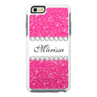 ピンクのグリッターの白いオッターボックスのiPhone 6/6sの箱 オッターボックスiPhone 6/6s Plusケース