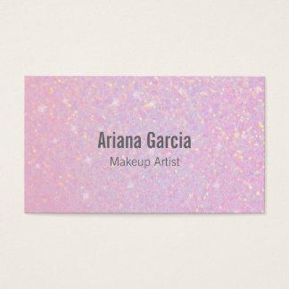 ピンクのグリッターの虹色の美しいの名刺 名刺
